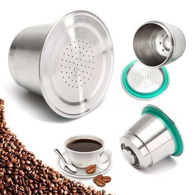 Stainless Steel Refillable Reusable Nespresso Coffee Machine Maker Capsules Pod