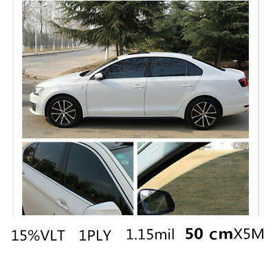 Car Black Car Home Glass Window Tint Tinting Film & shade Roll 50cmx5m 15% VLT