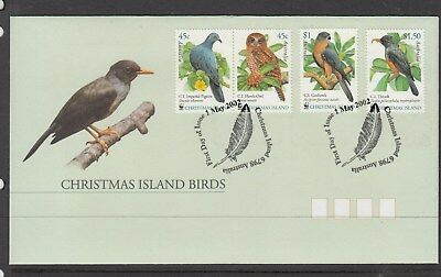 Christmas Island. 2002 Island Birds set of 4 stamps on First Day Cover.Cheap