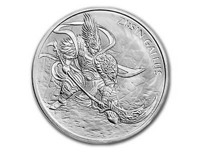 1 Clay ZI:SIN Gallus South Korea Südkorea KOMSCO 1 oz Silber 2017