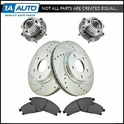 Performance Drilled and Slotted Disc Brake Rotors With Ceramic Pads Front Kit
