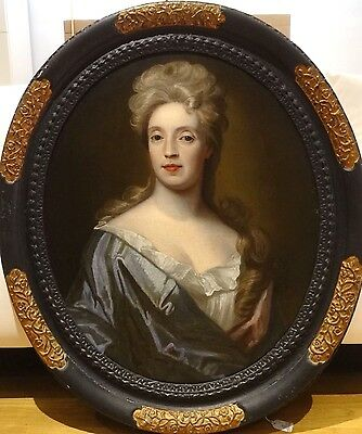 Fine Large 18th Century French Old Master Lady Portrait Antique Oil Painting