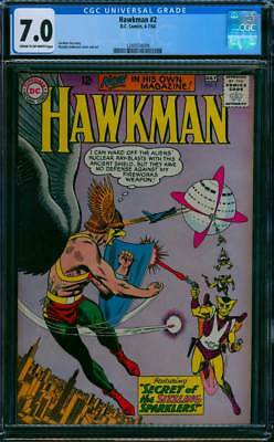 Hawkman # 2  Secret of the Sizzling Sparklers !  CGC 7.0  scarce book !