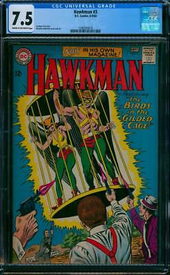 Hawkman # 3  The Birds in the Gilded Cage !  CGC 7.5  scarce book !