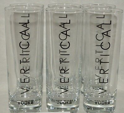 VERTICAL VODKA 6 verres tube NEUF