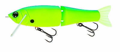 "Yo Zuri Duel Hardcore Ninja Swimmer 180 Floating 7"" 2 1/8oz Blue Back Chartreuse"