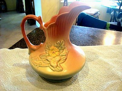 Vintage Hull Pitcher Ewer Vase Wild Flower Pattern  Matte Finish ~Large Piece