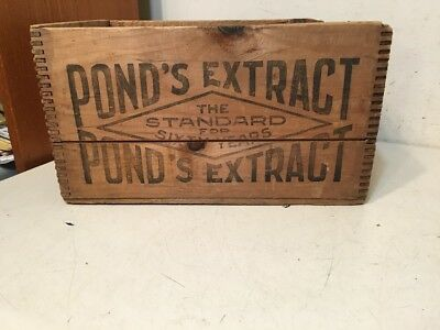 Rare Antique Ponds Extract Wood Shipping Advertising Crate Quack Medical Vanish