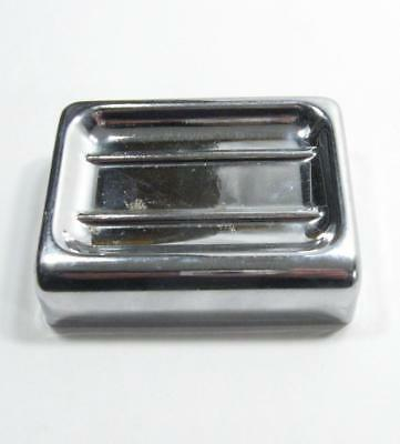 Vintage Chrome Soap Dish Tray Wall Mount Rectangle Metal Old Bathroom Simple