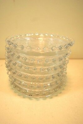 """(6)ea Imperial Glass 4"""" Candlewick Coasters 400/78FIVE"""