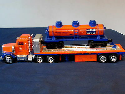 """""""'lionel"""" - Flatbed Toy Truck With 3 Dome Tank Car By Taylor Trucks New In Box"""