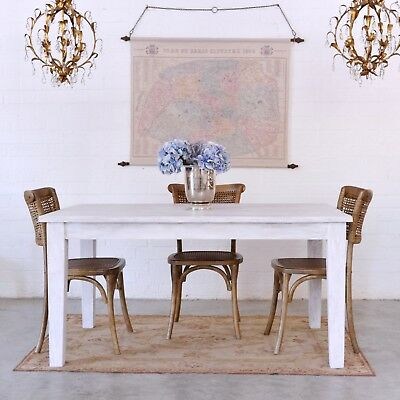 Shabby Cottage Chic Rustic Dining Table French Style Vintage French Farmhouse