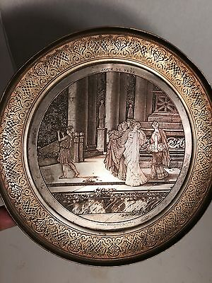 Antique French Gild Chased Bronze Magnificent Tray  Romantic Gorgeous %45OFF
