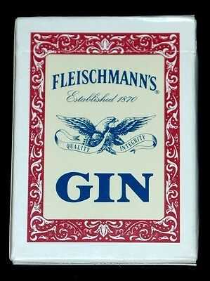 Fleischmann's Gin Unused Deck Of Poker Size Advertising Playing Cards