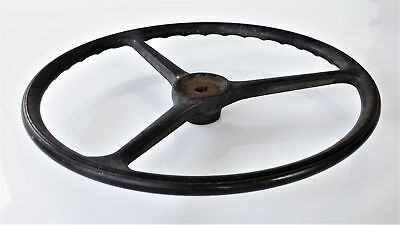 """antique STEERING WHEEL ford model a t coupe? 17.25"""" metal black steampunk car"""