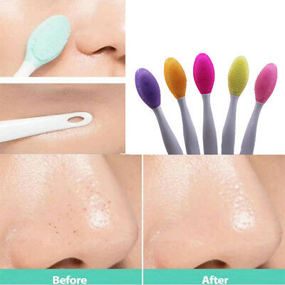2pcs Silicone Beauty Wash Face Exfoliating Blackhead Facial Cleansing Brush Tool