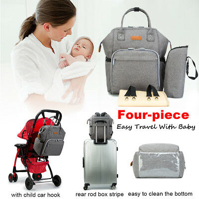 Multifunctional Baby Diaper Nappy Backpack Waterproof Mummy Changing Bag Large