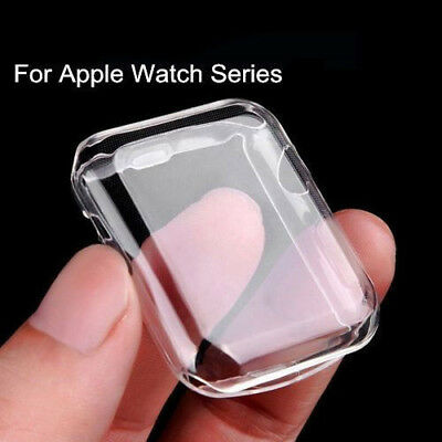Apple Watch Series 3 2 1 38/42mm PC Hard Case Cover Screen Protector