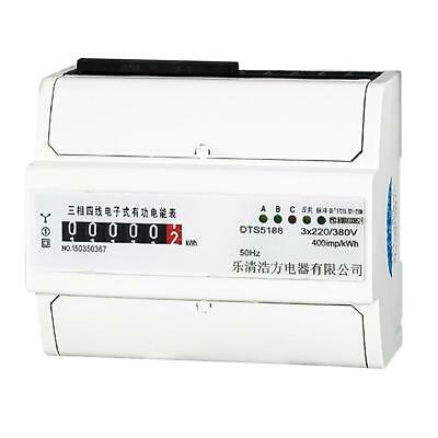 Remote Control, 3 Phase 4 Wire 20(80)A Power kWh Energy Sub Meter DIN Rail