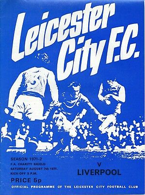 FA CHARITY SHIELD 1971 Leicester City v Liverpool - slightly creased