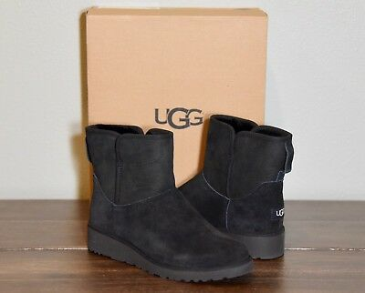 UGG Classic Slim Kristin Mini Boots Women's Shoes Black NIB 1012497