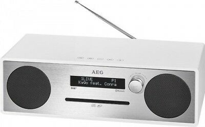 Hi-Fi System with DAB+ Radio ,CD , MP3, Bluetooth,USB, Aux-In AEG MC 4469 White