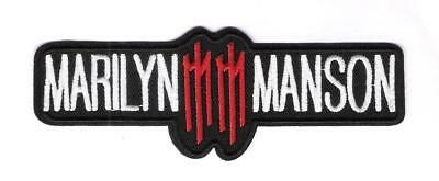 patch embroidered / écusson thermocollant Marilyn Manson