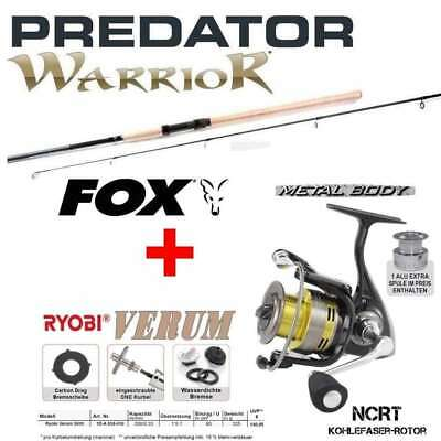 > Fox WARRIOR Spin 2,40m Fox Wg: 20-80G + RYOBI VERUM 5000