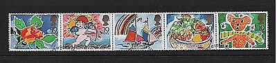 GB Stamps 1989 'Greetings' sg1423-1427 - Fine used strip