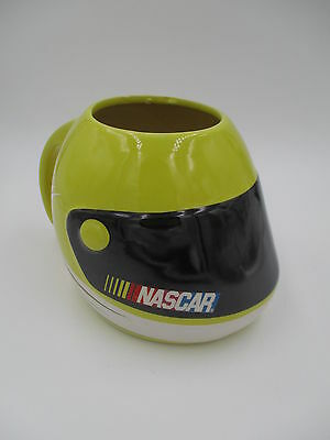 2003 Yellow NASCAR Racing Helmet Coffee Cup Mug