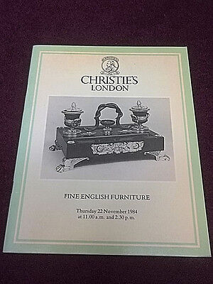 Christie's London Fine English Furniture November 1984 Antique Auction Catalogue