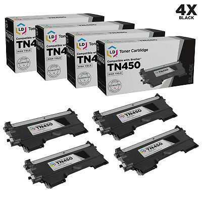 LD © 4pk Comp Toner for Brother TN450 Black Cartridge DCP-7060D DCP-7065DN NEW
