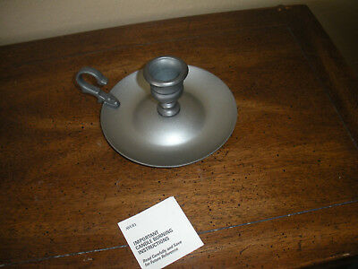 Avon Pewter Candlestick Candle Holder Loop handle no cleaning needed.