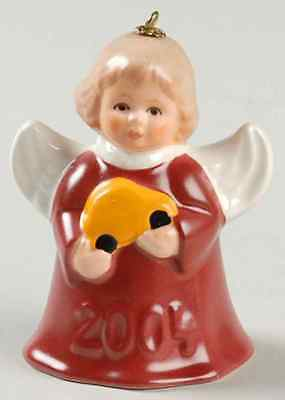 Goebel ANGEL BELL ORNAMENT Red Robe & Toy Car 2004