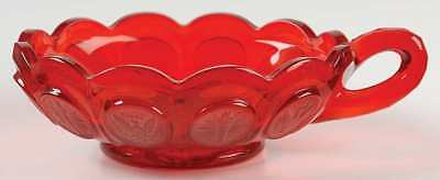 Fostoria COIN GLASS RUBY Handled Nappy 145616