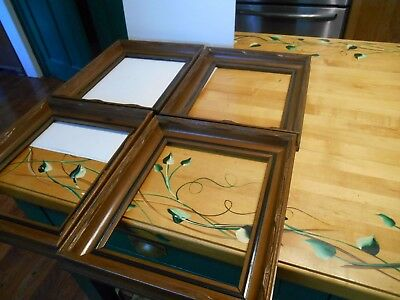 5  antique carved walnut victorian picture frames 4 are matching lot