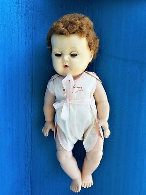 """Vintage American Character Tiny Tears Doll Rock A Bye Eyes 14"""""""