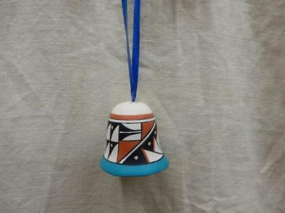 Vintage Native American Signed Hand Made Pottery Christmas Ornament-Isleta-BJ