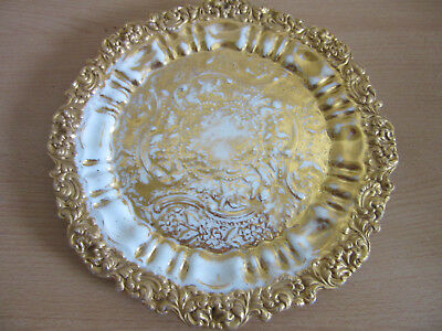 Antique Meissen German gold encrusted fancy cabinet plate 8.5""