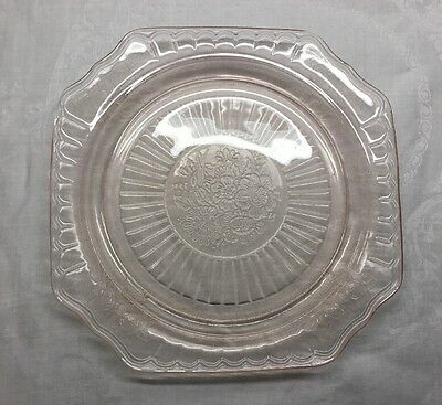 "Mayfair ""open Rose"" Pink Depression Glass - Dinner Plate - 9.5 Inches"