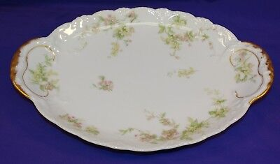 Antique Theo Haviland Limoges Small Platter Schleiger 1240 Blank 118A Flowers