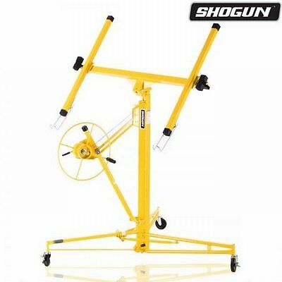 NEW 11ft-65KG Yellow Shogun Drywall Panel Lifter Plaster Board Lift, Solid Steel