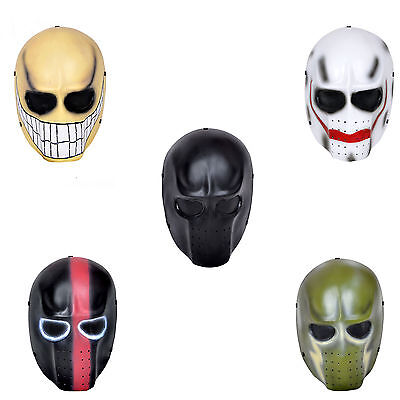 5 Colors Full Face Airsoft Paintball Eyes Wire Mesh Protection Skull Mask HM061