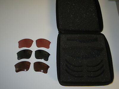 OAKLEY  FLAK JACKET ARRAY - case & 3 sets  of  lens (never used)