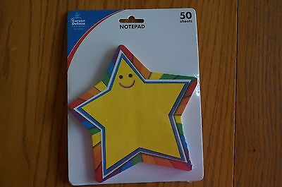 Teacher Resource: Rainbow Star Bright Colors Notepad NEW 50 sheets CD 151039