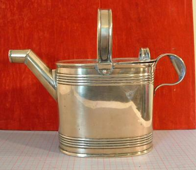 Antique solid brass watering / hot water can   5pt.