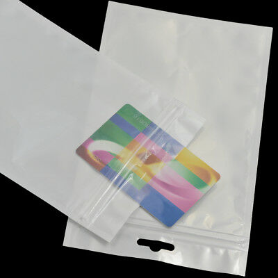 """Cello Bags Resealable Poly with Hang Holes Tag Zip Sleeve 7.8""""x4.7"""" OPP Bag DIY"""