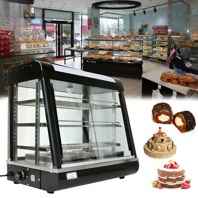 1850W Commercial Pizza Pie Cake Food Warmer Hot Display Showcase Cabinet Store