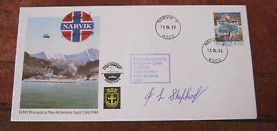 Norway. Battle of Narvik 50th Anniversary 1990 Signed Cover