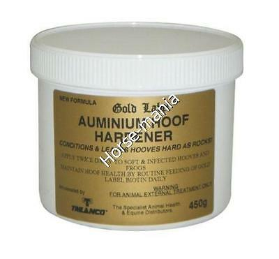 Gold Label Aluminium Hoof Hardener 450G Conditions And Leaves Hooves Hard